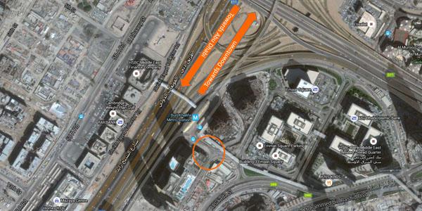 Dubai Mall Satellite View