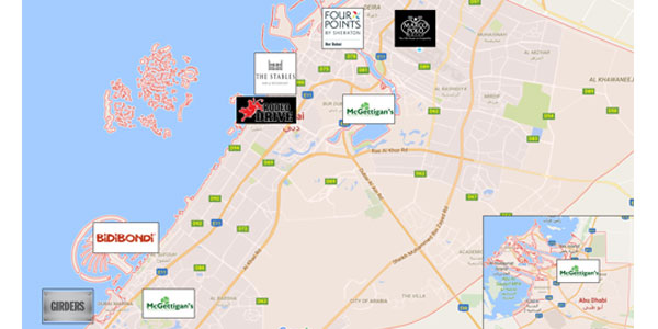 Best Advertising Locations in Dubai UAE - Map