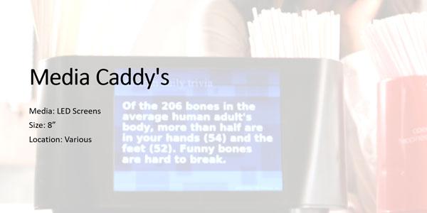 Media Caddy Screen Size