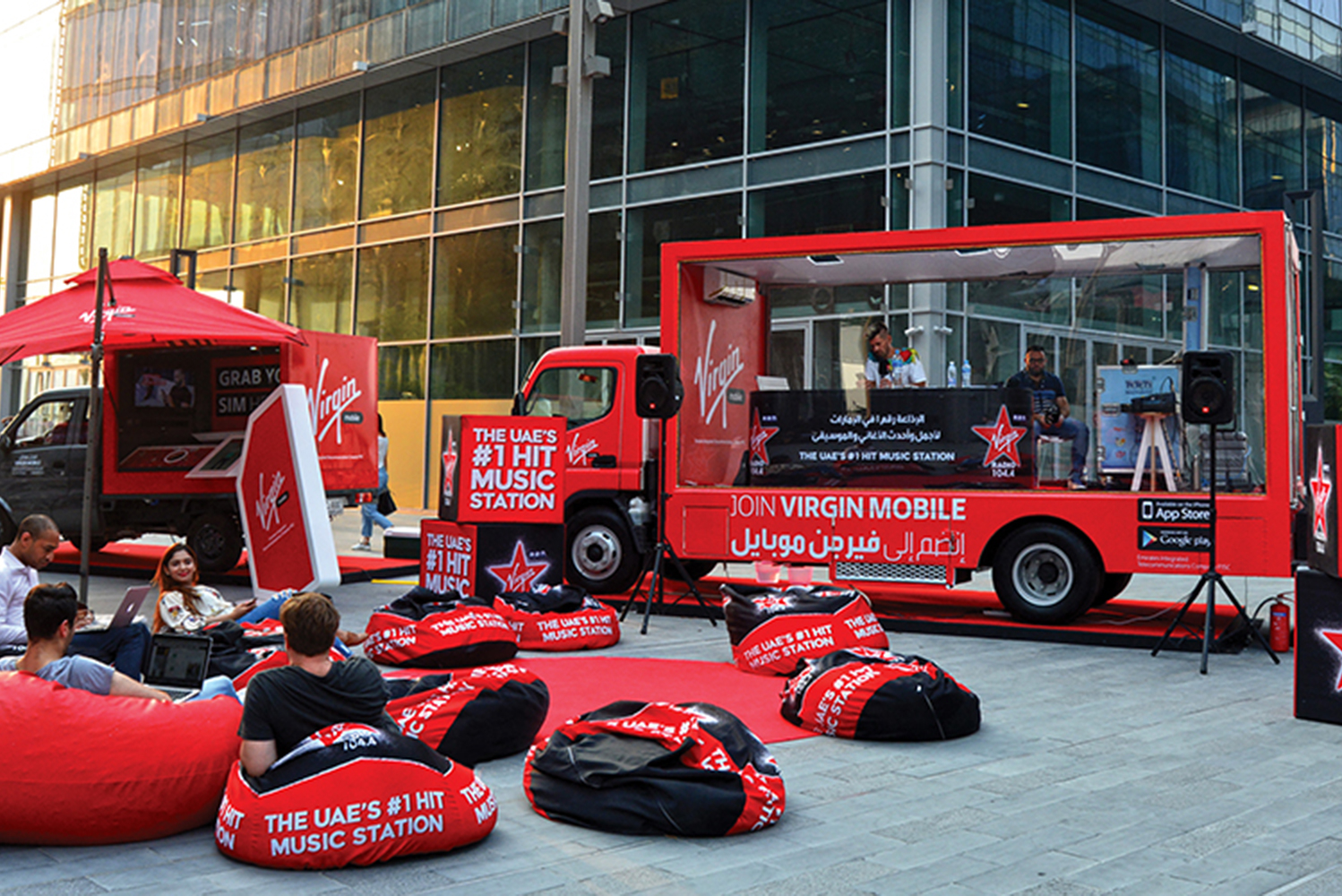 Promo Truck Advertising Virgin Mobile Dubai, UAE