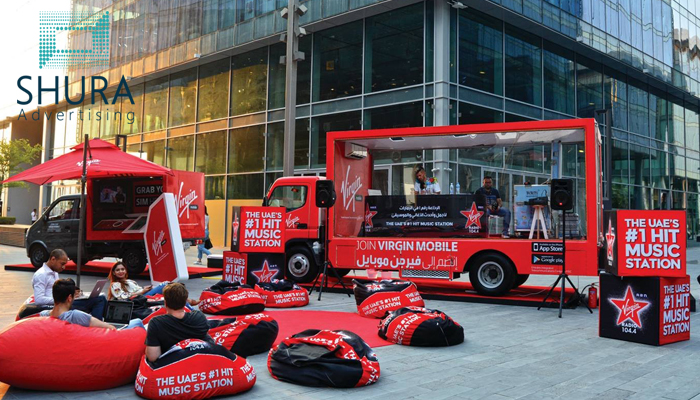 Advertising with a promo truck in Dubai