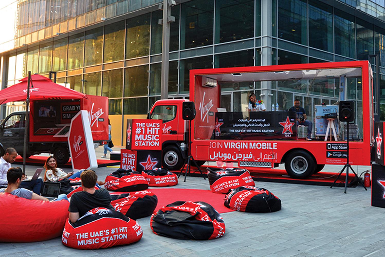 Promo Truck Advertising Virgin Mobile Dubai, UAE