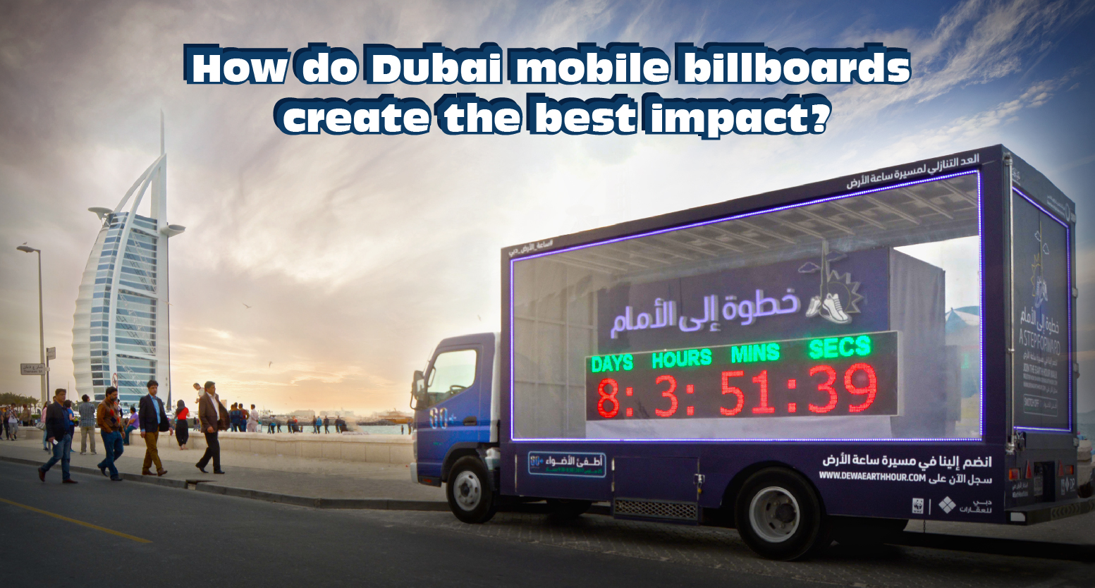 How do Dubai mobile billboards create the best impact?